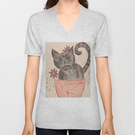 Penelope the Gardener Unisex V-Neck