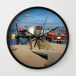 River Wyre Launching Facility - Fleetwood - England Wall Clock