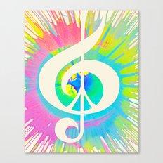 Tie Dye Music & Peace Canvas Print