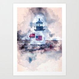 Brant Point Nantucket Art Print