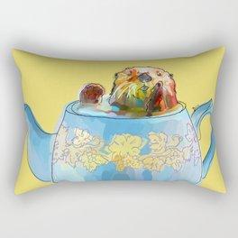 Otter Teapot Rectangular Pillow