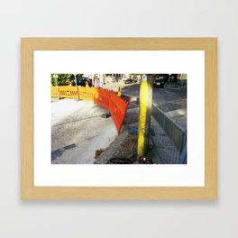 Contrast Construction Framed Art Print