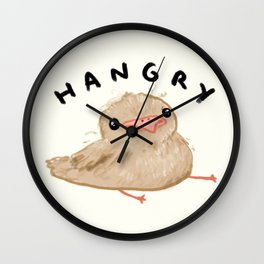 Hangry Chick Wall Clock