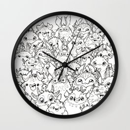 Pile o puffs Wall Clock