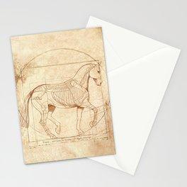 Da Vinci Horse In Piaffe Stationery Cards