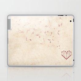 Music Heart old paper Laptop & iPad Skin