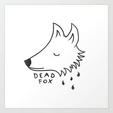 Dead Fox Art Print