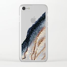 FLAWLESS GREY & GOLD Clear iPhone Case