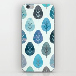 Watercolor Forest Pattern #2 iPhone Skin
