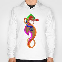psychadelic Hoodies featuring Psychadelic Seahorse Knot by Knot Your World