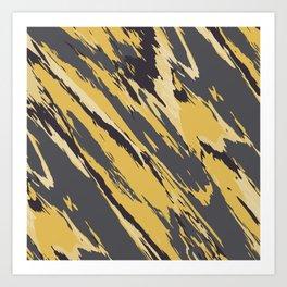 Golden grey Art Print