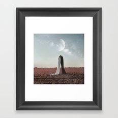 Living under the stars Framed Art Print