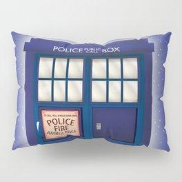vintage police box starfield Pillow Sham