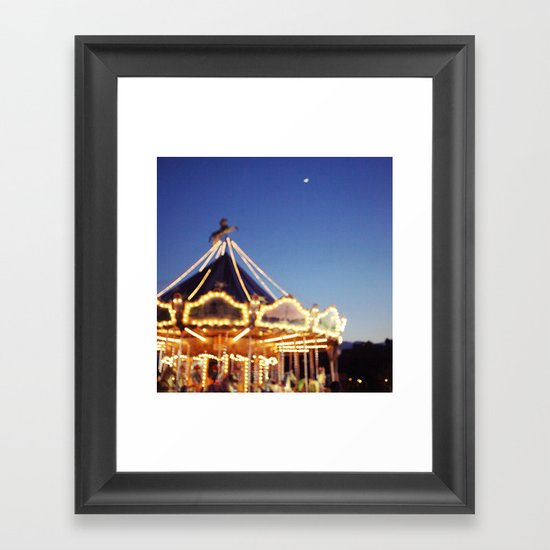 Crescent Moon Over Paris Framed Art Print