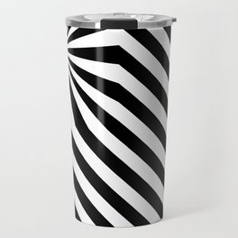 Stripes explosion - Black Travel Mug
