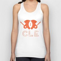 cleveland Tank Tops featuring Cleveland Football by John Trivelli