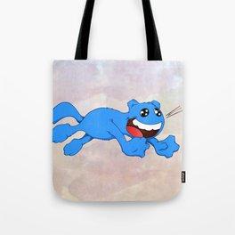 Jumpy Cat Attack Tote Bag
