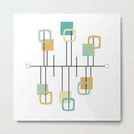 Mid Century Modern Abstract Pattern Shape Metal Print
