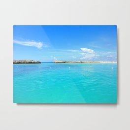Aqua Water Metal Print