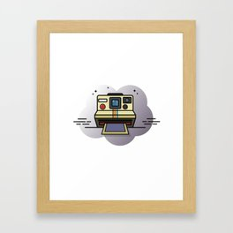 retro camera graphic Framed Art Print