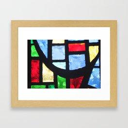 Stained Glass Framed Art Print
