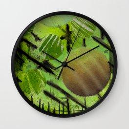 fenced in spheres Wall Clock