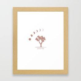 Joshua Tree Moon Phase Framed Art Print