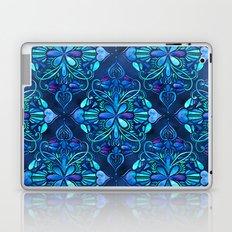 Deep Ocean Art Nouveau Watercolor Doodle Laptop & iPad Skin