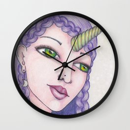 Lunar Unicorn Wall Clock