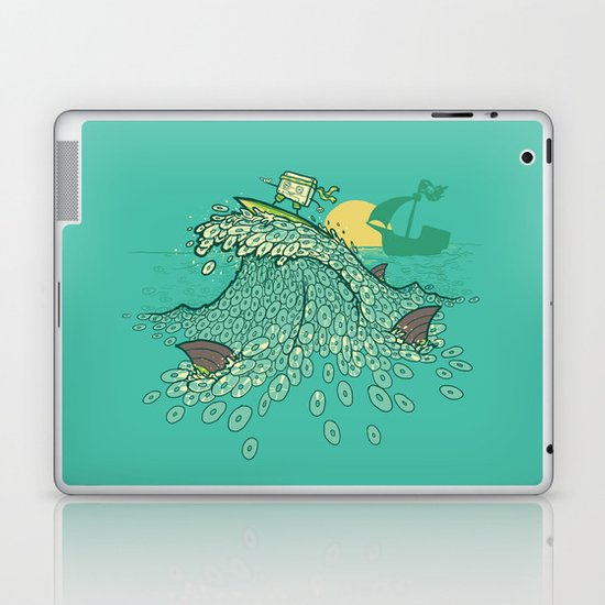 Surfin' Soundwaves Laptop & iPad Skin