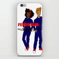 feminism iPhone & iPod Skins featuring feminism by nodoart