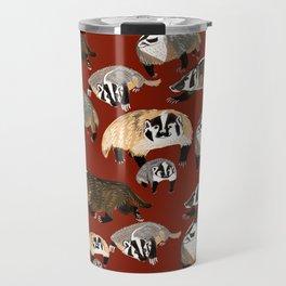 Western American Badger Travel Mug