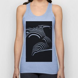 0758-AR BW Abstract Art Nude Striped Unisex Tank Top