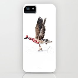 Canada Goose Figure Skating iPhone Case