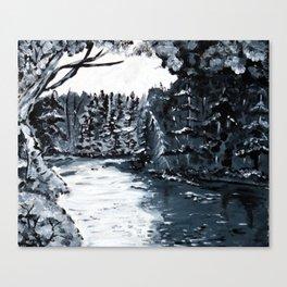 Upstste New York Lake Placid Water Way Canvas Print