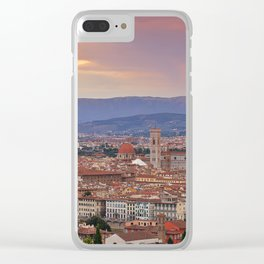 Panorama Florence, Italy. Clear iPhone Case