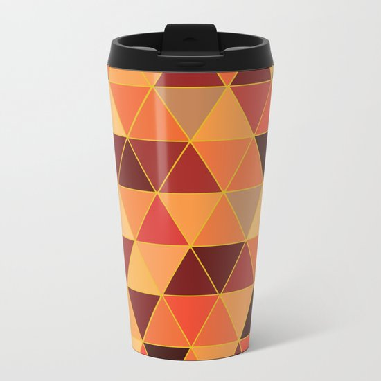 The Colors Of Fall Metal Travel Mug