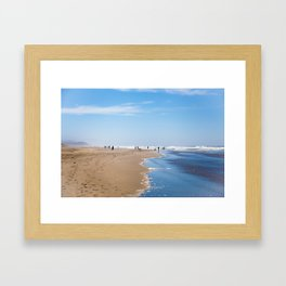 The Beach I Framed Art Print