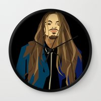 gangster Wall Clocks featuring Gangster by Elena Medero