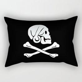 Henry Every Pirate Flag - Jolly Roger Skull Rectangular Pillow