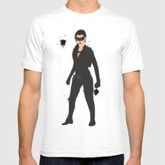 The Dark Knight: Catwoman MEDIUM Mens Fitted Tee White