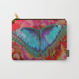 Extreme Blue Morpho Butterfly Carry-All Pouch