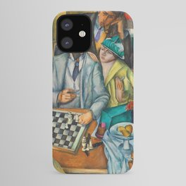 Chess Players, Paris, France, French Cafes, Left Bank, 1913 by Henryk Hayden iPhone Case