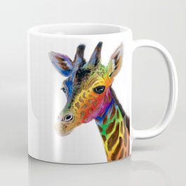 GRACEFUL GIRAFFE ABSTRACT PAINTING Coffee Mug