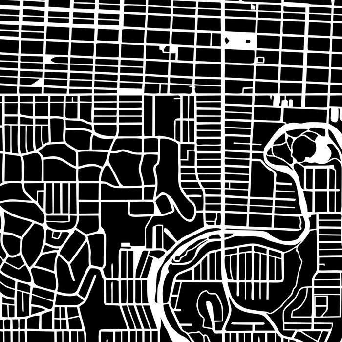 CALGARY MAP ART (BLACK) Leggings