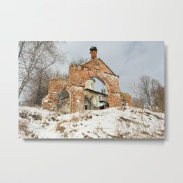 Vintage at the church gate. Metal Print