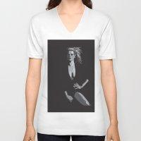 model V-neck T-shirts featuring Model by dunstanvassar