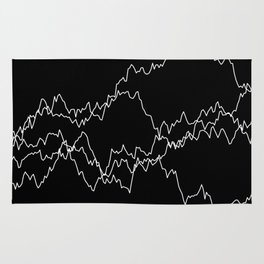 5 paths of discrete Brownian motion - black and white Rug