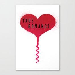 True Romance Corkscrew Heart Canvas Print