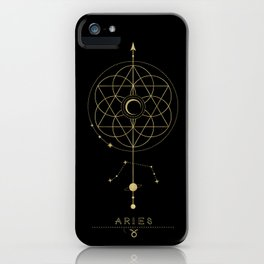 Aries Zodiac Constellation iPhone Case